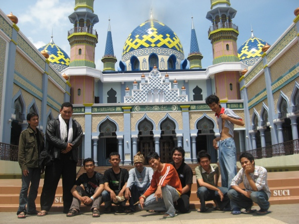 Di depan Masjid Agung Tuban